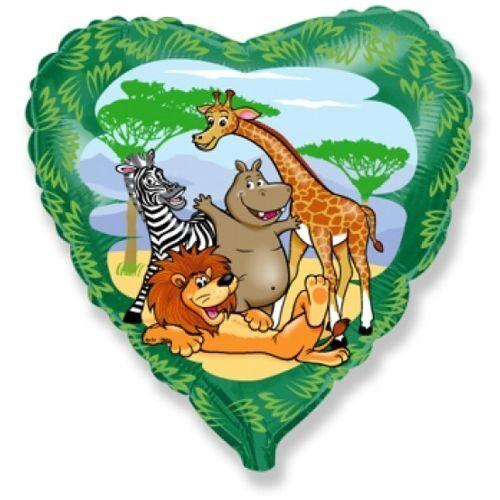 Balons ar Āfrikas dzīvniekiem