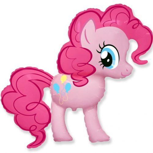 Rozā ponijs - hēlija balons