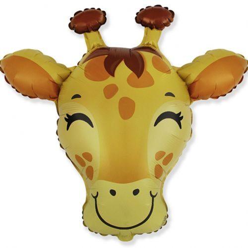 Hēlija balons žirafes galvas formā