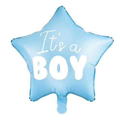 """Gaiši zila hēlija zvaigzne """"It's a Boy"""""""