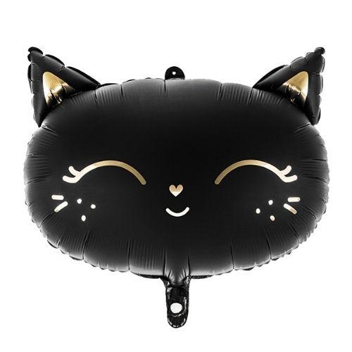 Balons - melns kaķis ar zelta akcentiem