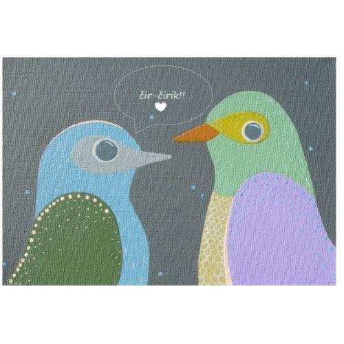 Apsveikuma kartīte ar putniņiem